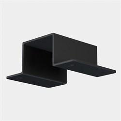 Скоба для монтажа в натяжной потолок ПВХ трековой системы С39 220V 4x контактный Black
