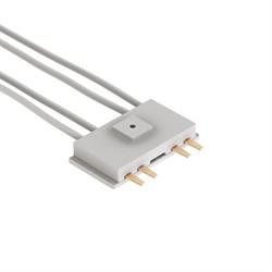 Коннектор для трековой системы С39 220V 4x контактный White 33x40x11mm (провод L390mm)