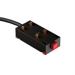 Коннектор для трековой системы С39 220V 4x контактный Black 34x71x22mm (провод L390mm)