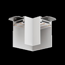 Угловой соединитель потолок-потолок для трековой системы С39 220V 4x контактный White 90x90x75mm