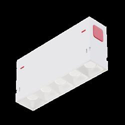 Светильник светодиодный линейный магнитной трековой системы С39 SMART DIM 10W 5х2W OSRAM CRI90 4000K, White L138x34x58mm