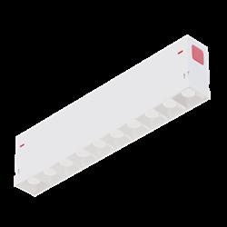 Светильник светодиодный линейный магнитной трековой системы С39 SMART DIM 20W 10х2W OSRAM CRI90 3000K, White L270x34x58mm