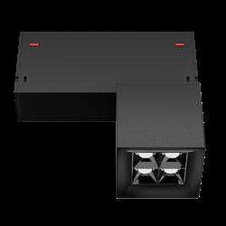 Светильник светодиодный магнитной трековой системы С39 X-SPOT 8W 4x2W OSRAM CRI90 3000K, Black 62х62x62mm