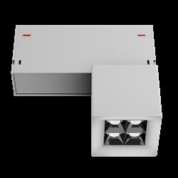 Светильник светодиодный магнитной трековой системы С39 X-SPOT 8W 4x2W OSRAM CRI90 3000K, White 62х62x62mm