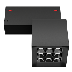 Светильник светодиодный магнитной трековой системы С39 X-SPOT 18W 9x2W OSRAM CRI90 3000K, Black 81х81x81mm