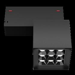 Светильник светодиодный магнитной трековой системы С39 X-SPOT 18W 9x2W OSRAM CRI90 4000K, Black 81х81x81mm