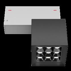 Светильник светодиодный магнитной трековой системы С39 X-SPOT 18W 9x2W OSRAM CRI90 3000K, Black/White 81х81x81mm