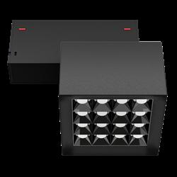 Светильник светодиодный магнитной трековой системы С39 X-SPOT 32W 16x2W OSRAM CRI90 3000K, Black 100х100x70mm