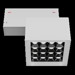 Светильник светодиодный магнитной трековой системы С39 X-SPOT 32W 16x2W OSRAM CRI90 4000K, White 100х100x70mm