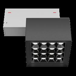 Светильник светодиодный магнитной трековой системы С39 X-SPOT 32W 16x2W OSRAM CRI90 3000K, Black/White 100х100x70mm