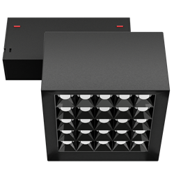 Светильник светодиодный магнитной трековой системы С39 X-SPOT 50W 25x2W OSRAM CRI90 4000K, Black 119х119x78mm