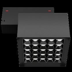Светильник светодиодный магнитной трековой системы С39 X-SPOT 50W 25x2W OSRAM CRI90 3000K, Black 119х119x78mm