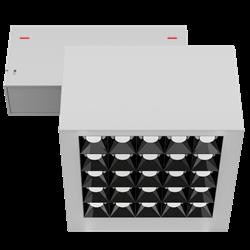 Светильник светодиодный магнитной трековой системы С39 X-SPOT 50W 25x2W OSRAM CRI90 3000K, White 119х119x78mm
