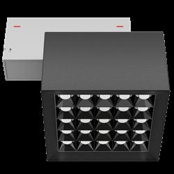 Светильник светодиодный магнитной трековой системы С39 X-SPOT 50W 25x2W OSRAM CRI90 3000K, Black/White 119х119x78mm