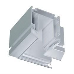 Угловой элемент для трековой системы  магнитный С25 в профиле для натяжных потолков LUMFER