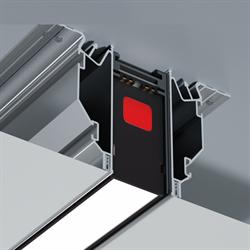 Трековая система  магнитный С25 в профиле для натяжных потолков SLOTT-80