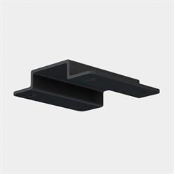 Скоба для монтажа в натяжной потолок ПВХ трековой системы С25 220V 2x контактный Black