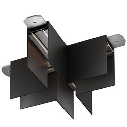 Х соединитель потолок-потолок С25 SMART DIM 220V, Черный 110х110mm