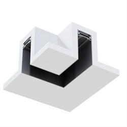 Угловое соединение потолок-потолок MAGNETIC С25 в профиле для ГКЛ черный