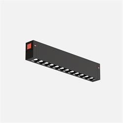 Трековый светильник линейный С25 Black mask SMART DIM 10W OSRAM CRI90 4000K, Black L200x24x34mm