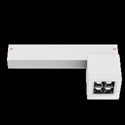 Светильник светодиодный магнитной трековой системы С25 X-SPOT 8W 4x2W OSRAM CRI90 4000K, White 62х62x62mm