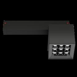 Светильник светодиодный магнитной трековой системы С25 X-SPOT 18W 9x2W OSRAM CRI90 4000K, Black 81х81x81mm