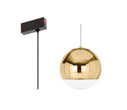 Люстра подвесная Е27 на трек магнитной трековой системы С25 дизайн Mirror Ball Gold