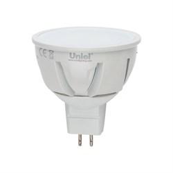 Лампа светодиодная диммируемая Uniel GU5.3 5W 4500K JCDR матовая LED-JCDR-5W/NW/GU5.3/FR/DIM 08698