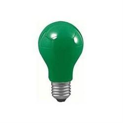 Лампа накаливания AGL Е27 25W груша зеленая 40023