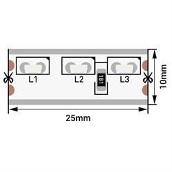 Светодиодная влагозащищенная лента SWG 9,6W/m 120LED/m 315SMD холодный белый 5M 003307